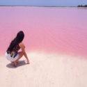 Мексиканска розова лагуна привлича фотографи и пътешественици