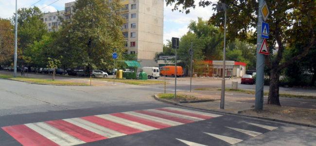 Пуснаха в действие нови повдигнати пешеходни пътеки в Пловдив