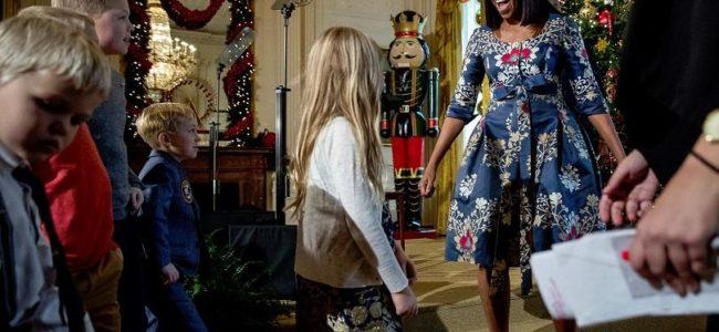 Мишел Обама показа коледната украса на Белия дом