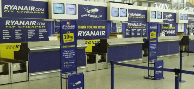 Райънеър ограничи ръчния багаж на пътниците си