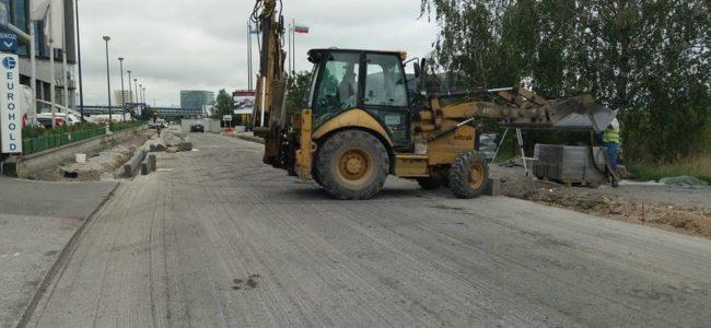 Продължава ремонтът на бул. Христофор Колумб в София