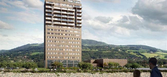 Най-високата дървена сграда в света се строи в Норвегия