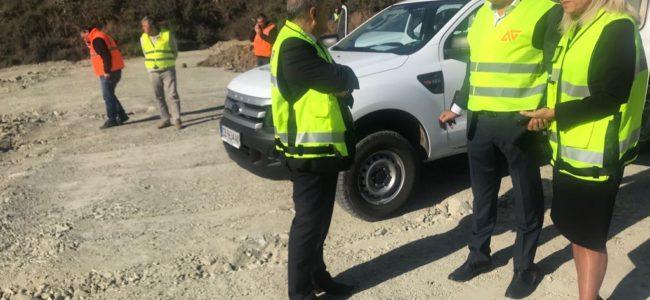 Регионалният министър провери строителството на участък от магистрала Струма