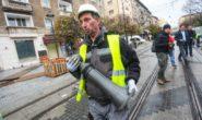 """Улица """"Граф Игнатиев"""" в лошо състояние след проливния дъжд"""